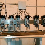 Six Automatic Drills on a Fixture Table